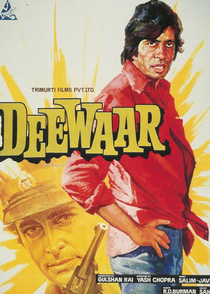 "Poster for ""Deewaar,"" directed by Yash Chopra"